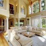 Luxury house interior. Living room — Stock Photo #44718769