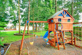 Playground for kids. Backyard view — Stock Photo
