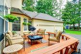 Backyard patio area — Stock Photo