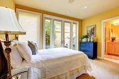 Master bedroom interior — Foto Stock
