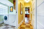 View of hallway and laundry room — Stock Photo