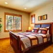 Bedroom with beautiful bed — Stock Photo
