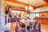 Luxury house interior. Dining room — Stock Photo