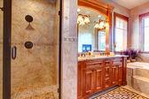 Luxury bathroom. Tropical theme interior — Stock Photo