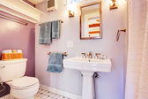Small bathroom interior — Stock Photo