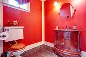 Bathroom with antique vanity — Stock Photo