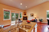 View of living room from kitchen area — Stockfoto