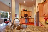 HIgh ceiling kitchen room interior — ストック写真