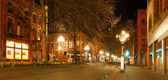 Pioneer square in Seattle. NIght view — Stock Photo