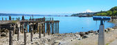 Tacoma, destroyed pier. — Foto Stock