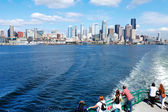 Downtown view from ferry. Seattle, WA — Stock Photo