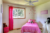 Pink girl room interior — Stock Photo