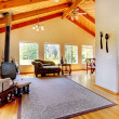 Log cabin style house interior. — Stock Photo #47103159