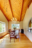 Beautiful dining area with high vaulted ceiling — Stock Photo