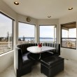 Modern dining area with window view — Stock Photo #47238863
