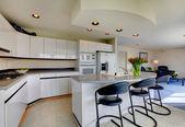 Modern refreshing kitchen interior — Stock Photo