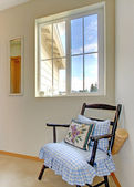 Corner decorated with antique chair — Stock Photo