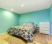 Mint happy bedroom — Stock Photo