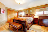 Rich bedroom wtih antique furniture set — Stock Photo