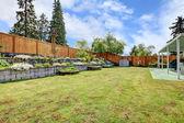 Backyard landscaping.  — Stock Photo