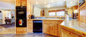 Rustic kitchen interior. — Stock Photo