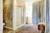 Bathroom interior with glass door shower — Stock Photo