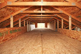 Empty spacious velux room — Stock Photo