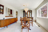 Bright dining room in old house — Stock Photo