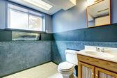 Navy empty bathroom — Stock Photo