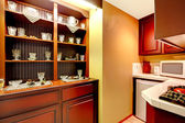 Kitchen corner with old cabinet view — Stock Photo
