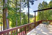 Spacious walkout deck view — Stock Photo