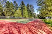 Tennis court view — Foto Stock