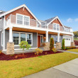 Modern house with glass screened walkout deck — Stock Photo #49165981