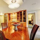 Spacious dining room interior — Stock Photo