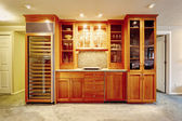 Modern storage combination with wine cabinet — Foto Stock