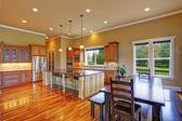 Kitchen interior in luxury house — Stock Photo