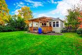 House exterior. Backyard view  — Stock Photo