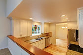Kitchen room with white cabinets — Foto Stock
