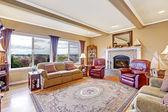 Luxury house interior. Living room — Stock Photo