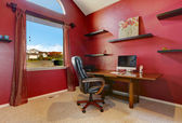 Bright red office room interior — Foto Stock
