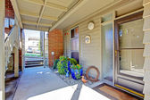Residential building. Entrance porch view — Foto Stock