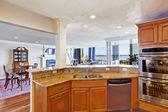 Kitchen room interior in modern apartment — Stockfoto