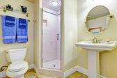 Osvěžující slonoviny koupelny interiér — Stock fotografie