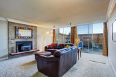 Living room with exit to backyard — Foto Stock