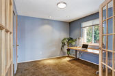 Office room interior in light lavender — Foto Stock