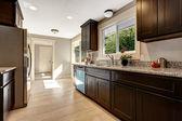 Modern kitchen inteior in new house — Stock Photo