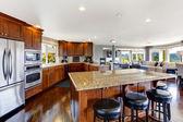 Spacious luxury kitchen room — Stock fotografie