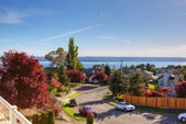 Scenic view from house walkout deck — Stockfoto