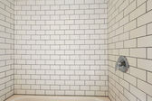 Tile wall trim in bathroom — Stock Photo