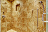 Granite tile wall trim in luxury bathroom  — Stock Photo